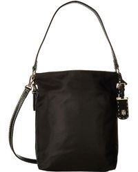Tommy Hilfiger - Julia Convertible Solid Nylon Hobo - Lyst