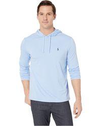 72a0ae44b Lyst - Polo Ralph Lauren 30/1 Jersey Long Sleeve Hooded T-shirt ...
