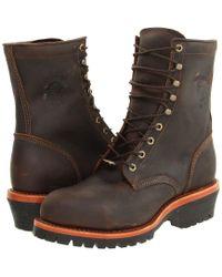 Chippewa Apache Steel Toe Logger - Brown