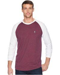 Psycho Bunny - Long Sleeve Color Block Tee (burgundy Salt Pepper) Men's T Shirt - Lyst