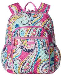 Vera Bradley Iconic Campus Backpack - Blue