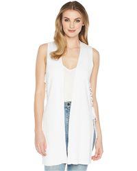 Kensie - Cotton Blend Side Tie Vest Ks5k5865 (white) Women's Clothing - Lyst