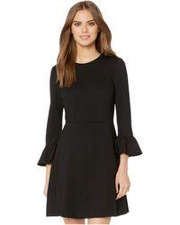 Kate Spade Bell Sleeve Ponte Dress - Black