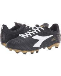 Diadora - Baggio 03 R Mg14 (black/white/gold) Soccer Shoes - Lyst