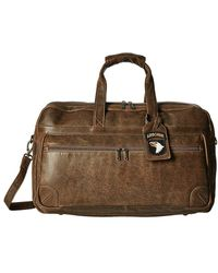 Scully Squadron Large Duffel W/ 81st Aero Squadron Luggage Tag - Brown