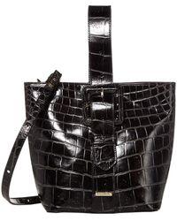Brahmin Veil Collection Faith Convertible Top Handle Pouchette Wristlet Crossbody Bag - Black