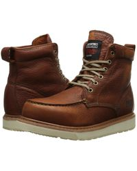 f596e55820d9 Timberland - (r) 6 Wedge (rust Full-grain Leather) Men s Work