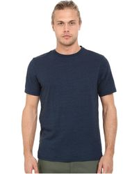 56461f73 Threads For Thought - Baseline Tri-blend Crew Tee (maroon Rust) Men's T