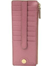 Lodis Business Chic Rfid Credit Card Case With Zipper Pocket - Purple