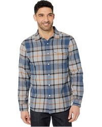 Reef Men/'s View L//S Long Sleeve Flannel Shirt Gold ~ STORE CLOSING SALE!
