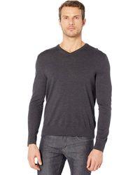 Calvin Klein Merino V-neck Sweater - Gray