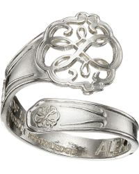 ALEX AND ANI - Spoon Ring (silver Lotus Peace Petals) Ring - Lyst