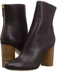 M Missoni | Solid Leather Bootie | Lyst