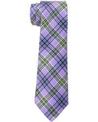 Lauren by Ralph Lauren - Printed Plaid Tie (blue) Ties - Lyst