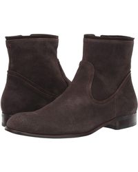John Varvatos Seagher Zip Boot Shoes - Brown