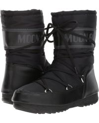 Tecnica - Moon Boot Soft Shade Mid (black) Women's Boots - Lyst
