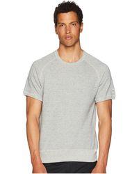 Todd Snyder - Short Sleeve Sweatshirt (light Grey Mix) Men's Sweatshirt - Lyst