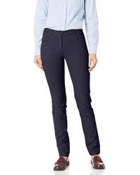 Izod Uniform Skinny Stretch Twill Pant - Blue