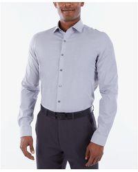 Kenneth Cole Reaction Dress Shirt Slim Fit Technicole Stretch Solid - Black