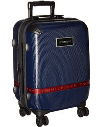 Tommy Hilfiger 20 Duo Sport Hardside Upright (navy) Pullman Luggage - Blue