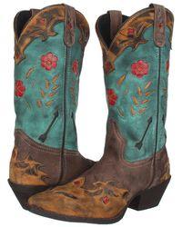 Laredo - Miss Kate (tan/brown/teal) Cowboy Boots - Lyst