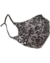 Wolford Reversible Lace Silk Face Mask - Black