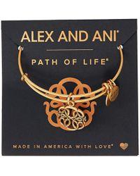 ALEX AND ANI - Path Of Symbols-path Of Life Iv Bangle (rafaelian Silver) Bracelet - Lyst