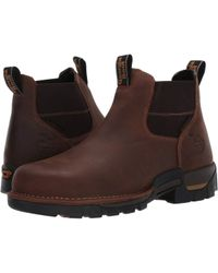 Georgia Boot Eagle One Waterproof Chelsea Soft Toe Boots - Brown