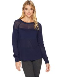 Lorna Jane - Finish Line Long Sleeve Top (ink) Women's Clothing - Lyst