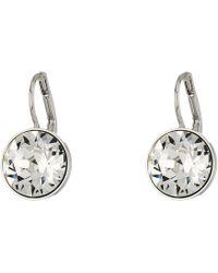 Swarovski - Bella Pierced Earrings (gray) Earring - Lyst