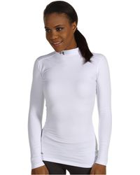 Under Armour ColdGear Fitted L/S Mock White/Metal Women's Running T-Shirts 8043025