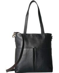 Scully Catia Leather Tote W/ Detachable Shoulder Strap - Black