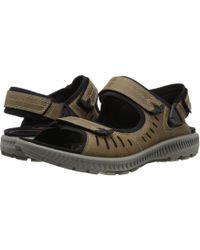 dd08245af511 Lyst - Ecco Terra 2s Sandal (titanium) Women s Sandals in Black for Men