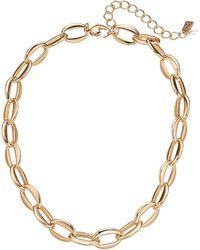 Robert Lee Morris 17 Chain Link Collar Necklace - Metallic