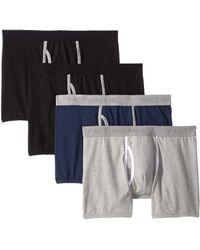 Pact - Everyday Boxer Brief 4-pack (black/heather Grey/navy) Men's Underwear - Lyst