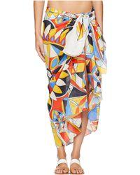 Tory Burch Kaleidoscope Pareo Cover-up (sweet Tangerine) Women's Swimwear - Multicolor