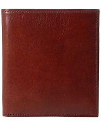 Bosca - Old Leather Collection - 12-pocket Credit Wallet (dark Brown Leather) Bi-fold Wallet - Lyst