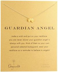 Dogeared - Guardian Angel Reminder Necklace (sterling Silver) Necklace - Lyst
