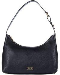 Frances Valentine Laura Tumbled Leather Hobo - Black