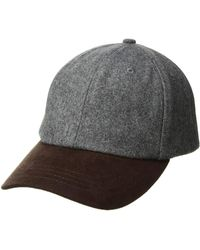 d91529fe7d7 San Diego Hat Company - Cth1502 Wool Crown And Faux Suede Brim Baseball Cap  (grey