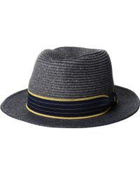 eed703ab7db San Diego Hat Company - Sdh3319 - Paperbraid Fedora With Woven Brim (navy)  Caps