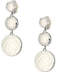 John Hardy - Dot Hammered Triple Drop Linear Earrings - Lyst