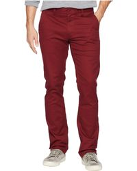 Brixton - Reserved Standard Fit Chino Pants (dark Burgundy) Men's Casual Pants - Lyst