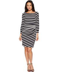 Lauren by Ralph Lauren - Kynara Tug Boat Stripe Matte Jersey Dress - Lyst