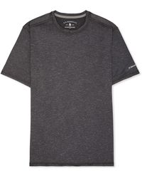 G.H. Bass & Co. Big And Tall Short Sleeve Stretch Performance Crewneck Solid T-shirt - Black