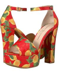 Chinese Laundry - Avenue 2 (red Lemon Print) High Heels - Lyst