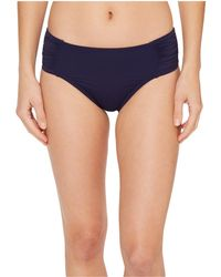 Tommy Bahama - Pearl High-waist Side-shirred Bikini Bottom (black) Women's Swimwear - Lyst