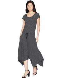 Lauren by Ralph Lauren - Petite Cotton-blend T-shirt Dress (polo Black/soft White) Women's Dress - Lyst