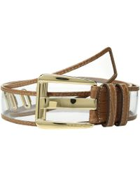 ed7b7fb908ebc MICHAEL Michael Kors - 42 Mm Vinyl Belt (acorn) Women s Belts - Lyst