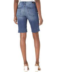 Kut From The Kloth Natalie Bermuda Shorts In Anticipate - Blue